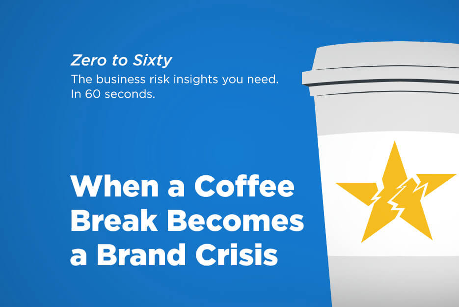 When a Coffee Break Becomes a Brand Crisis