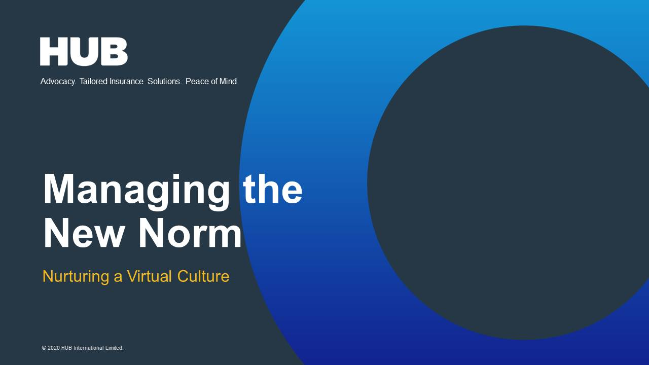 Managing the New Norm: Nurturing a Virtual Culture